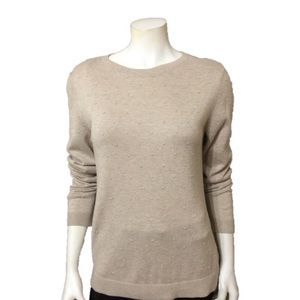 Christopher & Banks Oatmeal/Tan Sweater-Size Small